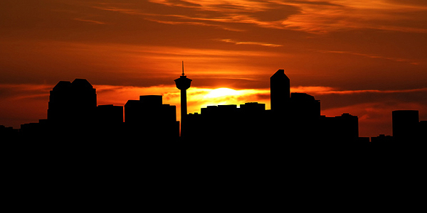 Calgary at sunset