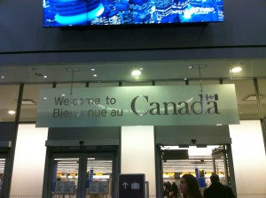 Welcome to Canada Sign, Toronto Pearson Int'l Airport