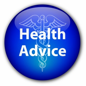 """Health Advice"" button"